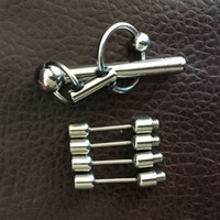 urethral sounds - Newest Adjustable Male Stainless Steel Urethral Sounding Stimulate Plug Stretching Bead With Cock Penis Ring Chastity Device BDSM Sex Toy