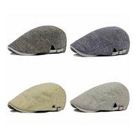Wholesale Men Vintage Cowboy Retro Cotton Cap Duckbill Beret Sunhat Casual Hip Hop Hat