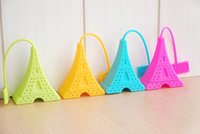 Wholesale New Arrive Silicone Tea Bag Eiffel Tower Loose Infuser Strainer Herbal Spice Filter