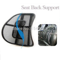 Wholesale 1Pcs Car Chair Massage Seat Back Lumbar Support Mesh Ventilate Cushion Pad Black Car Styling Mesh Back Lumbar Cushion Healthy