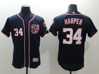 Wholesale Washington Nationals Bryce Harper New Men Navy Blue Jerseys Majestic MLB Flexbase Baseball Jersey Free Drop Shipping Mix order