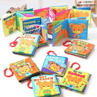 baby rattle pictures - Baby Cloth Book Intelligence Educational Developing Books Colorful Word Picture Toys Crib Bed Rattle Toy Accessories VE0090