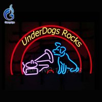 arcade sign - Neon Sign UnderDogs Rocks Beer bar Sign Neon Bulb Affiche Lamp Glass Tube Neon Arcade neon Art Signs Handcrafted Display VD19x15
