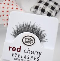 Wholesale Natual red cherry False Eyelashes High Quality Fake Eye Lashes hand made eyelashes Extension red cherry Makeup