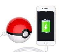 battery operated chargers - Poke Go Power Bank mAh Poke Ball Shape USB LED External Battery Charger Charger