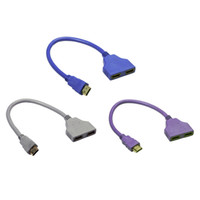 Wholesale New HDMI to Split Double Signal Adapter Convert Cable for Video TV HDTV