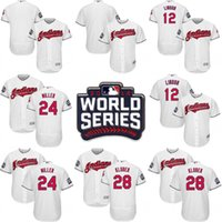 Wholesale 2016 World Series Cleveland Indians Men s Blank Yan Gomes Francisco Lindor Jason Kipnis Andrew Miller Corey Kluber Jerseys