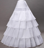 Wholesale High Quality Hoops Crinoline Underskirt Petticoat For Wedding Dress Bridal Gown In Stock Free ship wedding gown petticoat A Line