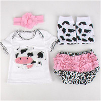 Unisex baby shorts warmer - Newborn Baby Girls Ruffle Bloomers Leg Warmer Headband Set Cow Printed Summer Newborn Outfit Infant Baby Clothes