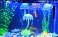 Wholesale Glowing Artificial Vivid Jellyfish Silicone Fish Tank Decor Aquarium Decoration Ornament H210462