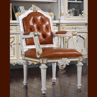 armchairs office furniture - Filiphs Palladio classic furniture baroque classic study room furniture solid wood frame office armchair European style office chair