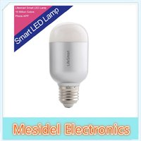 Wholesale Lifesmart Home Automation System Smart LED Bulb Dimmable Light E27 Wireless Remote Control Million Colors Dimming Lamp