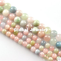 beryl crystals - DIY Morgan natural stone jewelry accessories loose beads semi finished Aquamarine beryl crystal female models