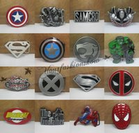 Wholesale Fedex DHL Free Super Heroes superhero captain America batman Big Belt Buckle Buckles L31 M