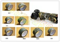Wholesale 10M Camo Wrap Outdoor Hunting Bionic Tape Cotton Waterproof Speckle Camouflage Rifle Hunting Shooting Tool Stealth Tape Camping Accessories