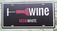 artistic posters - Artistic Tin Sign Red White Wine Bar Tavern Home Wall Decoration Retro Metal Art Poster New