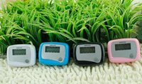 Wholesale LCD Counter Pedometer Portable Run Step Passmeter Digital Electronic Walking Calories Pedom Counters to Math Counter