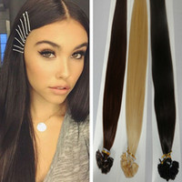 Cheap Fexex FREE 3pcs lot Silky Brazilian human hair straight flat tip hair extension 18-28inches for in stock keep long time
