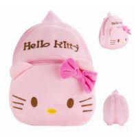 baby travel shop - Kid Baby Hello Kitty Plush Backpack Cute Kids Birthday Gift Plush Backpack Shopping Travel Backpacks for Kids