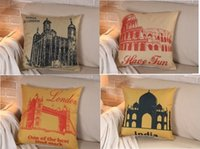 architectural gifts - Tower of London England British pride architectural drawings pillow massager decorative travel pillows case home popular gift Price