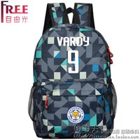 Wholesale 9 Jamie Vardy Backpack Travel Backpack students youth schoolbag Leicester City
