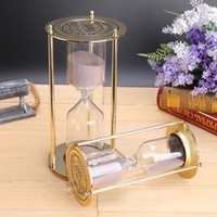 Wholesale Fashion Style Glass minutes Sandglass Time Counter Count Down Timer Hourglass Clock Creative Gift Home Decor