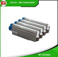 Wholesale 4pk set Okidata Oki C5850 C5950 MC560 Toner Cartridges BK C M Y OEM NO
