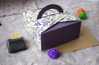 Wholesale 2015 Portable paper cake packaging box beautiful wedding cake boxes Biscuit mooncake Pastry decorator