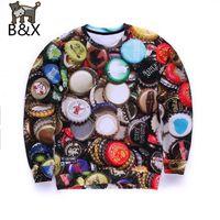 beer cap designs - Popular Beer cap design men d sweatshirt funny graphic hoodies punk long sleeve mens sweat shirt tops