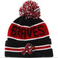 Printed atlanta beanie - New Atlanta Braves Baseball Beanies Team Hat Winter Caps Popular Beanie Caps Skull Caps Best Quality Sports Caps xd