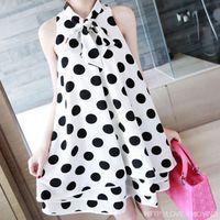 aa cap - Fashion Polka Dot Print Sleeveless Chiffon Maternity Dresses for Pregnant Women Summer Maternity Clothes for Pregnancy Dress