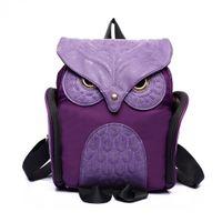 Wholesale uggage Bags Backpacks Women Backpack Newest Stylish Cool PU Leather Owl Backpack Female Women Bag Mujer Mochila Escolar Feminina Sch
