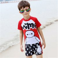 best rash guards - Cartoon Rash Guard Shirts Popular Boy Clothing Best Price Summer And Spring Kids Swimsuit Hot Selling Children s Swimwear A0040
