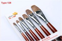 Wholesale High Quality Artist Paint Brush Handmade Gouache Brush Weasel Hair Art Paint Brush