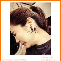 Wholesale Fashion Punk Style Ear Cuff spider Wrap Ancient black Color Made by Copper Alloy with Nickel Free Plating W108 Wind