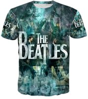 beatles shorts - 2016 New year gift harajuku designers outwear tops t shirts the beatles print d t shirt men T shirt cool hip hop shirts summer short sleeve