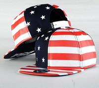 american flag hat - USA Flag Snapback caps American Flag flat hat star with striped mens sports hats lady s adjustable baseball hats red black