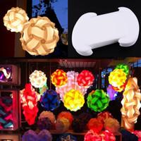 Wholesale 30pcs Elements IQ Puzzle Creative Jigsaw Bar Decor Light Lamp Shade Lampshade Design Size S Decoration