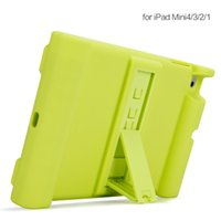 Wholesale iPad mini Case Protective Silicone Case in Box Stand Protective Stand Case Cover for iPad mini1 ipad mini2 ipad mini3 Case