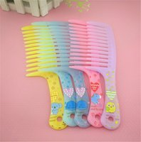 Wholesale Hair Comb Teeth Plastic Anti Static Cartoon Pattern Hair Curly Wide Tooth Comb Hot Seller Combs