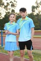 Wholesale NEW Lining Badminton wear sports set table tennis clothes badminton clothes set Shirt SHORT for Women M XL