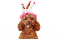 Wholesale 2 Colors Cute Dog Birthday Hat King Dressing Cap Christmas Halloween Party Hat Pet Hat Accessories