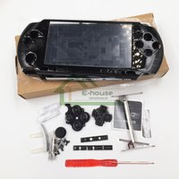 Wholesale New Version Full Housing Shell with Buttons Kit for Sony PSP3000 Shell Cover Case replacement for PSP Game Console