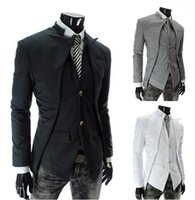 Wholesale New Brand British Style Slim Men Suits Mens Stylish Design Blazer Casual Business Fashion Jacket Black Grey White