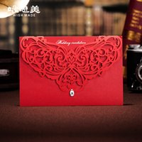 Wholesale Only singmei hollow diamond wedding invitations and creative Chinese invitation