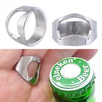 aluminum bars for sale - 2016 Hot Sale pc Stainless Steel Finger Ring Bottle Opener Ring Shape Beer Bottle Opener for Beer Cola Bar