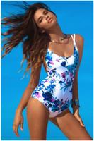 best bikini style - Bikini Beach Party Floral Lace Halter Straps Swimwear Hawaii one piece Best Soft Swimsuits Bathing Suit Summer Style