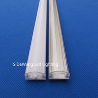 Wholesale 15pc pack m inch per piece led aluminum profile channel for led strips QC1806B m with Milky or Transparent Cover