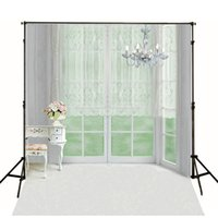 Wholesale 5x6 ft x200cm Digital Printing Indoor Background Backdrop Glass Windows For Wedding Backgrounds For Photo Studio