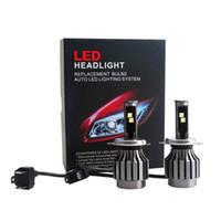 Wholesale All In One H4 high low LED Car Headlight Cree W LM K Car Head Fog DRL Conversion Light No Ballast No relay